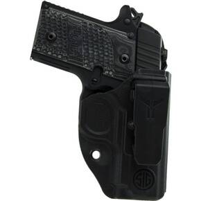 IWB Appendix Holster for Glock 26 - 27 - 33 Black - Righ - Handed