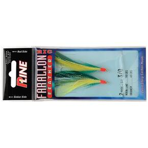 P-Line Farallon Feather Jig Hair 3/0 2pk - Green/Chartreuse