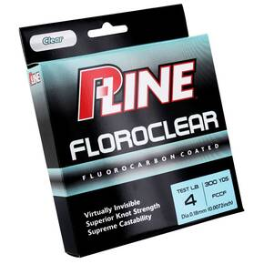 P-Line Floroclear Co-Polymer Fish Line 4 lb 300 yds - Clear
