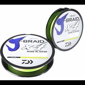 Daiwa J Braid 4 strand Fluorescent Yellow 150yd 15l