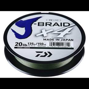 Daiwa J Braid 4 strand Dark Green 150yd 15lb