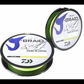 Daiwa J Braid 4 strand Fl Yellow 300yd 10lb