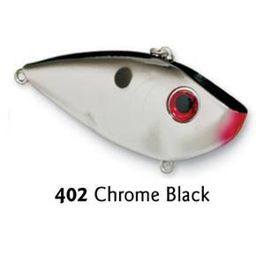 Strike King Red Eye Shad Lipless Crankbait Lure 1/2 oz - Chrome Black