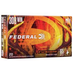 Federal Fusion Rifle Ammunition Fusion Soft Point 20/ct