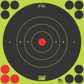 "Pro-Shot Splatter Shot 8"" Green Bullseye Target - 6 Pack"