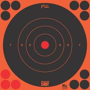 "Pro-Shot Splatter Shot 8"" Orange Bullseye Target - 6 Pack"
