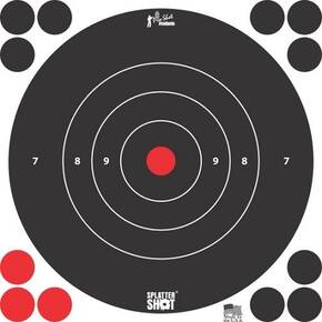 "Pro-Shot Splatter Shot 8"" White Bullseye Target - 6 Pack"