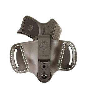 DeSantis Style #145 OUTBACK, OWB/IWB AMBI HOLSTER; FITS MOST SMALL AUTOS & 1911, BLK