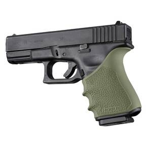 HogueHandAll Beavertail Grip Sleeve for Glock 19, 23, 32, 38 Gen 3-4 OD Green
