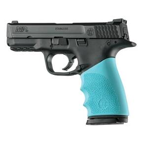 Hogue Handall Hybrid S&W M&P 9MM, 40S&W, 357SIG Grip Sleeve Aqua
