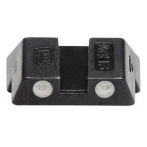 "Glock Rear Sight 6.1mm .240"" Height Slim Fits Glock 42 and 43 Steel Black Tritium"