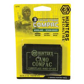 Hunters Specialties Woodland Camo 3-Color Compac Hunting Make-Up Kit