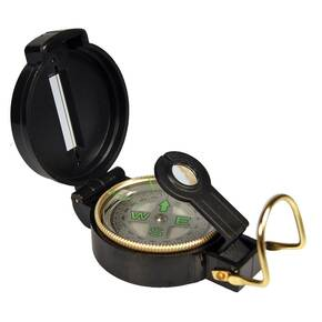 UST Lensatic Compass - Compact Folding Design Black