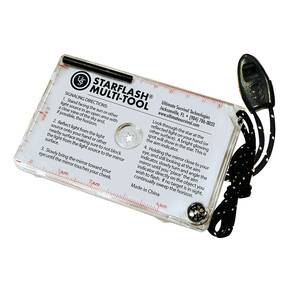 UST StarFlash Multi-Tool - Flint Fire Starter Bar/Ruler/Lanyard w/Whistle/Compass Clear Color