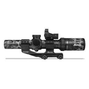 BLEMISHED Burris MTAC Rifle Scope Combo FastFire II & PEPR Mount - 1-4x-24mm illuminated Ballistic AR Reticle Prym 1 Blackout