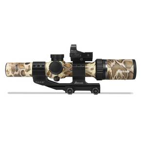 Burris MTAC Rifle Scope Combo FastFire II & PEPR Mount - 1-4x-24mm illuminated Ballistic AR Reticle Prym 1 Sandstorm