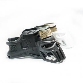 The Mako Group MOJO AR-15 Magazine Well & Grip w/ Vigilante Elongated Skull Insert Black