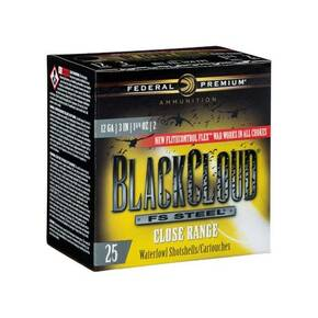 "Federal Black Cloud FS Steel Close Range Shotshells 12ga.  3"" 1-1/4oz  #2 1450 fps 25/ct"