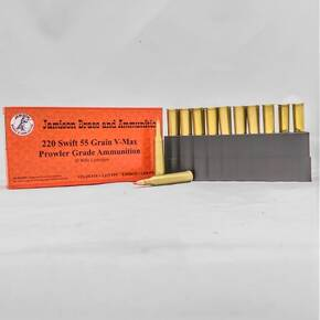 Jamison Rifle Ammunition .220 SWIFT 55 gr V-MAX AMMO 20 ROUNDS/BOX