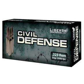Liberty Civil Defense Rifle Ammunition .223 Rem 55 gr SCHP 3000 fps 20/ct