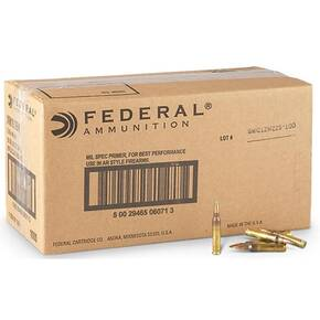 Federal XM855 Green Tip Ammunition 5.56mm 62 gr FMJ 3020 fps 1000/ct (Bulk)