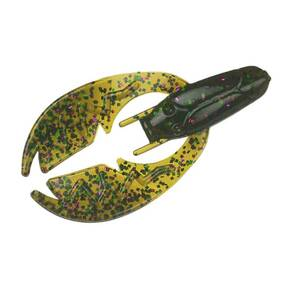 "NetBait Paca Chunk Soft Trailer Lure 3-1/4"" 6pk - Green Pumpkin Candy"