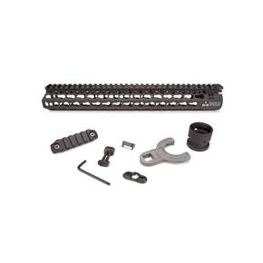 "Bravo Company Alpha Keymod Rail Fits AR Rifles 13"" Aluminum Alloy Black Finish Includes BCM KeyMod Sling Mount and KeyMod Nylon Rail"