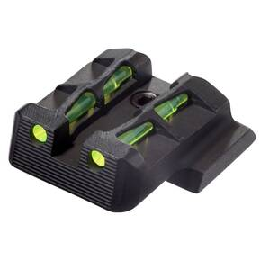HiViz LiteWave Rear Sight For Full Size S&W M&P Shield Pistol - Green/Red/Black LitePipes