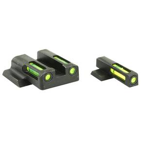 HiViz LiteWave H3 Tritium LitePipe Night Sight For S&W M&P Shield - Front Green/Rear Green