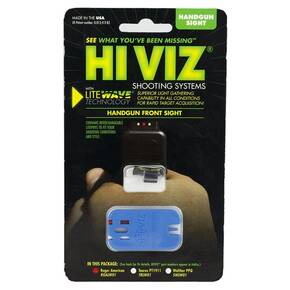 HiViz LiteWave Front Sight For Ruger American Full & Compact Size - Red/White/Green LitePipes