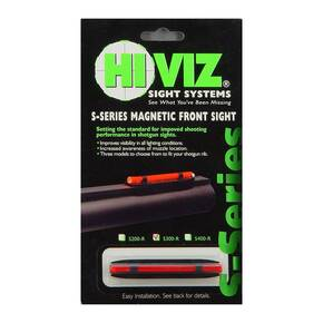 HiViz S-Series Magnetic Front Sight For Shotgun Rib .218″ to .328″ Narrow - Red LitePipe