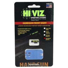 HiViz Litewave Front Sight For Springfield 1911 - Includes Green/White/Red LitePipes and Key