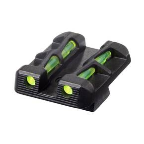 HiViz LiteWave Interchangeable Rear Sight For Sig Sauer P-Series - Green/Red/BLack LitePipes & Key