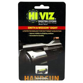 "HiViz Interchangeable Front Sight for S&W Revolver with 2.5"" or Longer Barrel - Green LitePipe"