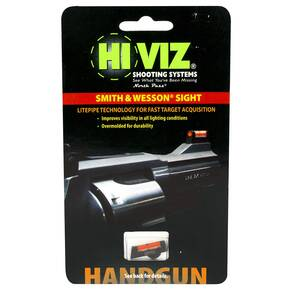 "HiViz Interchangeable Front Sight for S&W Revolver with 2.5"" or Longer Barrel - Red LitePipe"