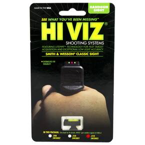 HiViz Front Sight For S&W Revolver with DX Style Interchangeable Sight 0.310 High - Green LitePipe