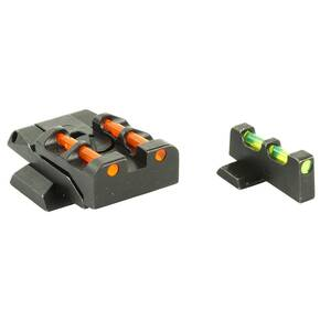 HiViz Interchangeable Front/Rear Sight Set For S&W M&P Full Size & Pro Pistols - Green/Red/White LitePipes