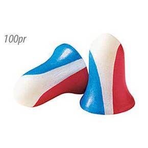 Honeywell Howard Leight USA Shooters Earplugs,100 pair pack Red/White/Blue