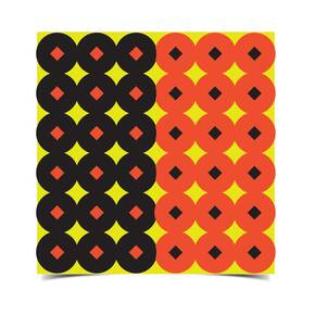 "Birchwood Casey Shoot•N•C 1"" Orange & Black Self-Adhesive Targets 432 targets (216 each)"