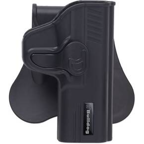 Bulldog Thumb Release Poly holster w/paddle & mag holder RH Fits Sig 938 Series