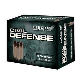 Liberty Civil Defense Handgun Ammunition .357 Mag 50 gr SCHP 2100 fps 20/ct