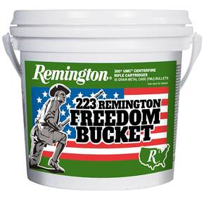 "Remington UMC ""Freedom Bucket"" Rifle Ammunition .223 Rem 55gr FMJ 300/ct"