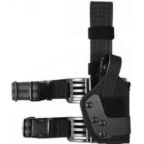 9928 Plain Black Left Hand Thigh Holster#28