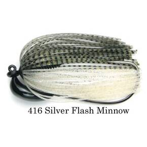 Keitech Tungsten Swim Jig Lure 3/8 oz - Silver Flash