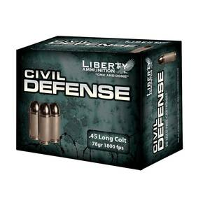 Liberty Civil Defense Handgun Ammunition .45 Colt 78 gr SCHP 1800 fps 20/ct