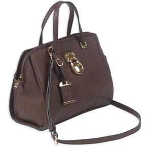 Bulldog Satchel Style Purse w/Holster - Chocolate Brown