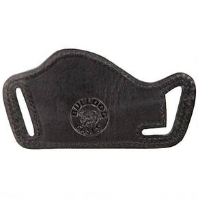 "Bulldog Small Molded Leather Belt Slide Holster Fits Small Frame Revolvers w. 2-4"" Barrels - Black Right Hand"