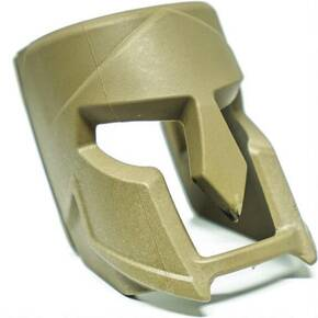 The Mako Group Fab Defense Decorative Spartan Helmet Insert for Mojo Magwell Grip - Flat Dark Earth