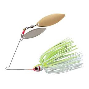 Booyah Blade Double Willow Blade Spinnerbait Lure 3/8 oz - White Chartreuse