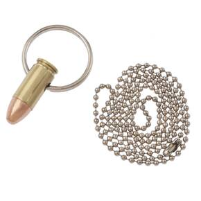 Lucky Shot 9mm Bullet Necklace